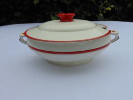 """Société Ceramique Maestricht Art Decó soepterrine """"Adèle"""""""