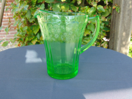 Beautiful uranium glass water jug