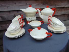 """Art Deco Societé Ceramique theeservies """"Gouda"""""""