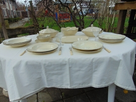 Antique Plazuid, flying deer, dinner service