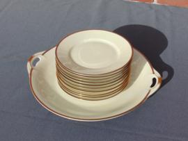 Antique cake plates sets