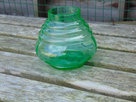Beautiful uranium glass vase