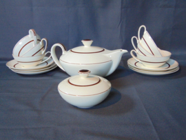 "Art decó Petrus Regout tea set ""Regina"""