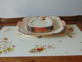 Art Decó cake plates set