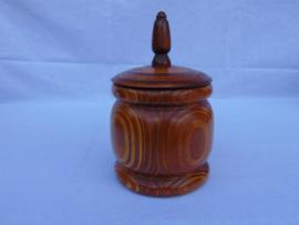 Vintage Holz Tabaktopf
