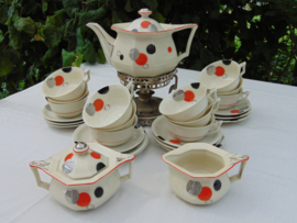 Art Deco English Royal Cambridge Ivory tea set