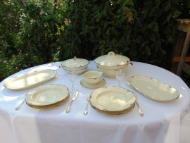 Antique Arzberg porcelain dinner set Autumn leaves