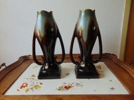 Set Thulin art nouveau vases