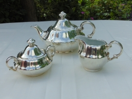 Antique silver plated tableware