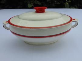 """Société Ceramique Maestricht Art Decó dekschaal """"Adèle"""""""