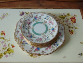 English antique Spode-Audley cake plates set