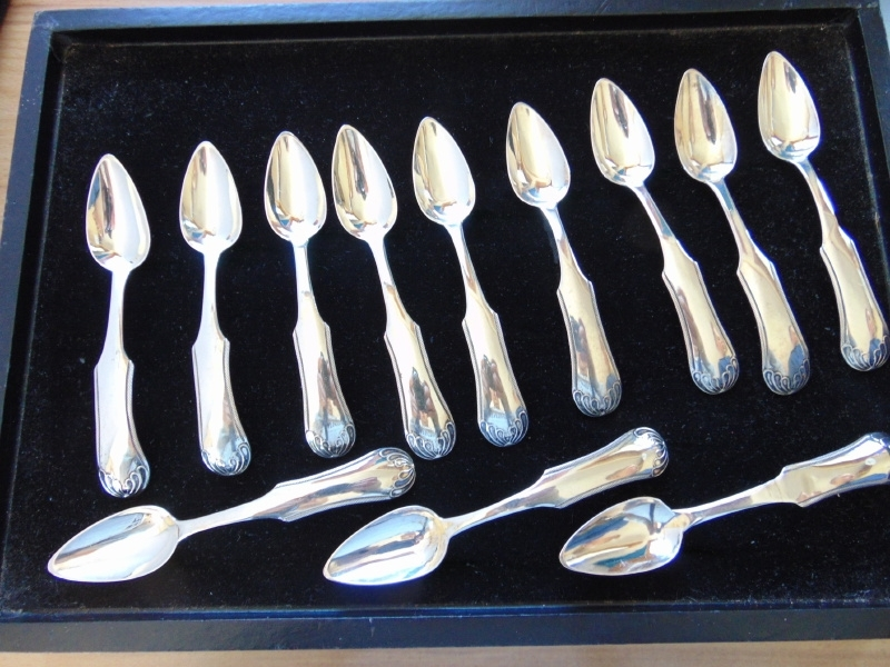 Antique silver icecream spoons