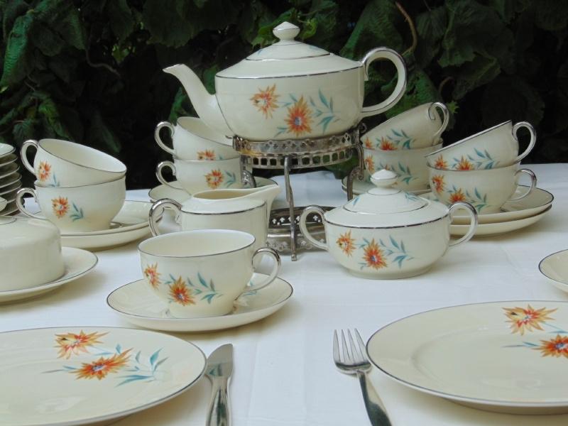 Vintage pocelain tea or breakfast set