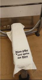 Handdoeken voor speciale gelegenheid volgens ingebracht idee.