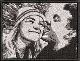 """Foto kussenhoesje """"liefde 2"""""""
