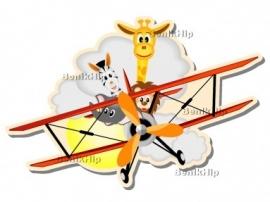 Strijkapplicatie 'Een vliegtuig vol' (13051)