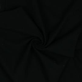 Bio Jersey zwart  - 95% CO5% EA