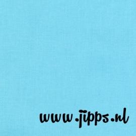 Katoen uni - blauw - Robin Egg - Robert Kaufman Kona Cotton