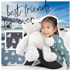 Polar Bear Mint tricot - Qjutie Kids