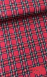 Schotse ruit - 65% PE/35%VI - rood