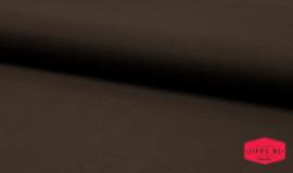 Katoen uni - donkerbruin - 100% katoen