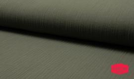 Hydrofiel khaki - 100% katoen