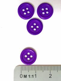 Knoop 4-gaats 11,5 mm  Paars
