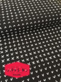 Zwart/wit - Robert Kaufman Fabrics - 100% katoen