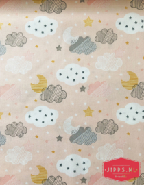 Starry Night Pink - Blends Fabrics - 100% katoen
