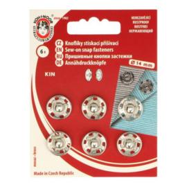 Aannaaidrukknopen  14 mm zilver - Koh I Noor