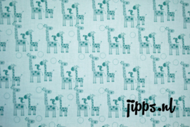 Giraffes Teal - Riley Blake Designs - 100% katoen