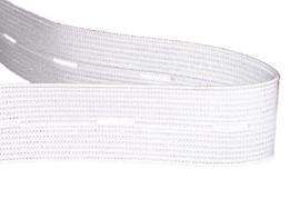 Knoopsgat elastiek 20 mm wit