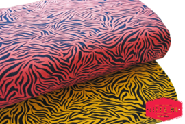 Tijgerprint  roestbruin - tricot