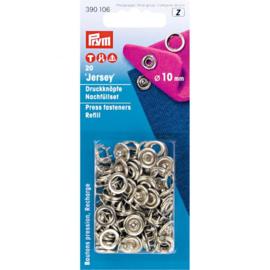 Prym navulling naaivrije drukknopen tandring 10 mm zilver