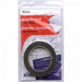 Vlieseline naadband 10 mm zwart