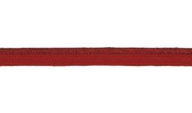 Piping koord - rood metallic - 10 mm