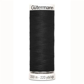 Gutermann naaigaren 000 - zwart