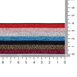 Sierelastiek - gestreept multicolour - 40mm