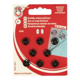 Aannaaidrukknopen 10 mm zwart - Koh I Noor