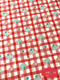 Road Tablecloth Red - Riley Blake Designs - 100% katoen