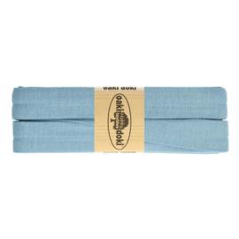 Jersey Biaisband 20 mm oud blauw 003 - 3 mtr. - Oaki Doki tricot