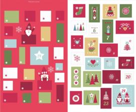 Adventkalender - stofpanel - Lewis & Irene
