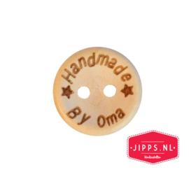 Handmade by oma - houten knoop 20 mm
