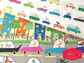 Dogs in Cars - QT Fabric - 100% katoen