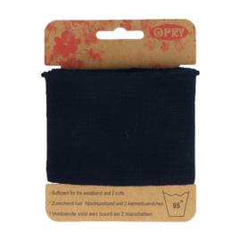 Opry - boord en manchetten - donkerblauw
