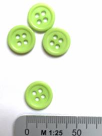 Knoop 4-gaats 11,5 mm Mintgroen