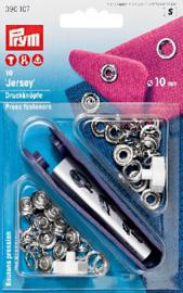 Prym 390107 - Jersey drukknopen naaivrij 10 mm -  tandring zilver