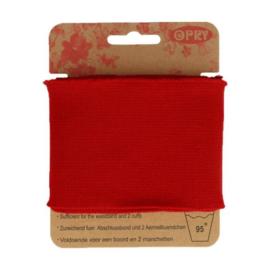 Opry - boord en manchetten - rood