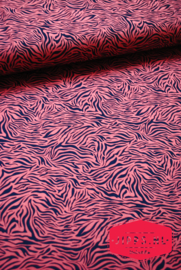 Tijgerprint  roestbruin - QjutieKids - tricot