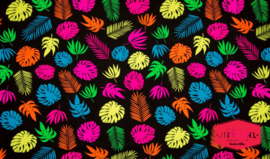 Neon Big Leaves - Qjutie Kids - Tricot